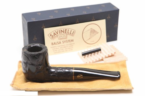 Savinelli Alligator Black 101 Tobacco Pipe