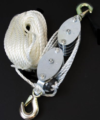 Rope Pulley Block and Tackle Hoist picture