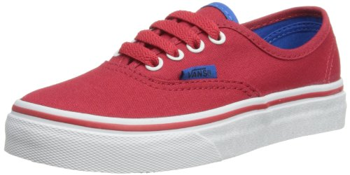 Vans Unisex-Child Authentic Trainers VUR8BYQ.010 Chinese Red/Skydiver 31.5 EU/13.5 UK