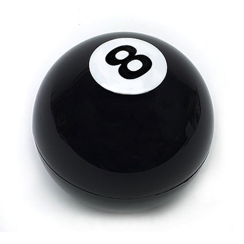 Decisión Magic Ball (bola 8). En caja de regalo idea