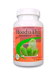 Hoodia Thin, Natural Apetite Surpressant, Weight Loss Supplement, with Hoodia, Green Tea Extract, and Homeopathic Cell Salts 90ct