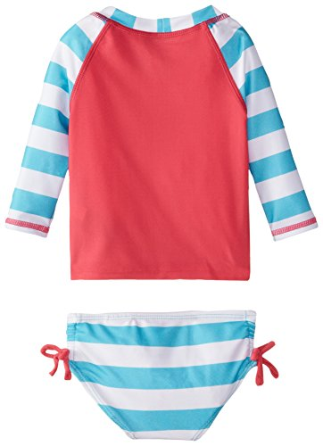 Nautica baby girls infant bold stripe rash guard swim set for Baby rash guard shirt