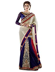 Jay Sarees Faux Georgette Blue Bollywood One Minute Saree - B00KVM4IG4