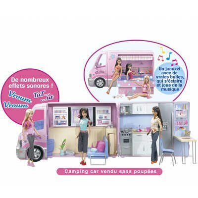 Camping car barbie moins cher