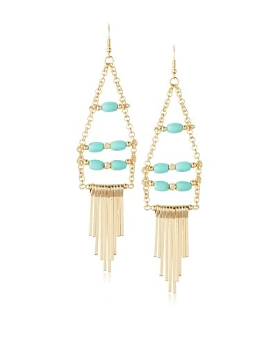 Sparkling Sage Beaded Fringe Drop Earrings As You See