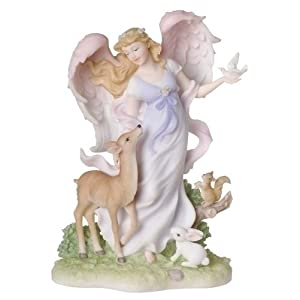 "Joyful Moments Angel - Fiona - Stone Resin - 8.25"" High"