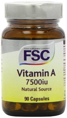 FSC 7500iu Vitamin A Natural Source 90 Capsules