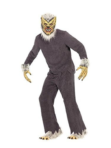 Smiffy's Men's Werewolf Costume with Shirt Trousers Feet Hands and Foam Mask