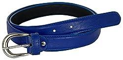TUEUR Women's Synthetic Belt (TU-2011, Blue, 30)