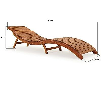 Sonnenliege Gartenliege Holziege Liege mit Kofferfunktion faltbar kurvig von Deuba® bei Gartenmöbel von Du und Dein Garten