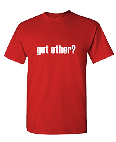 Got Ether? - Mens Cotton T-Shirt, S, Red