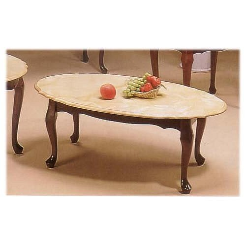 Elegant marble top coffee table with queen for Coffee tables amazon
