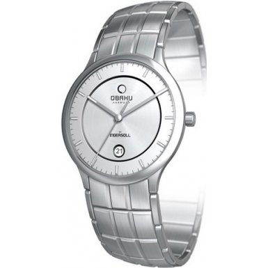 Obaku By Ingersoll Gents Silver Dial Bracelet Watch