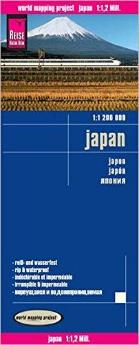 Japón, mapa impermeable de carreteras. Escala 1:1.200.000. Reise Know-How. (Reise Know-How Verlag)