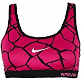 Nike Women's Pro Classic Padded Giraffe Sports Bra, Red