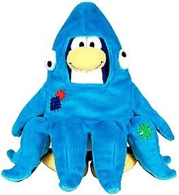 """SAVE $7.00 - VALUE DEAL on RARE Club Penguin SQUIDZOID 7"""" Plush - VALUE DEAL = Just the Rare Plush without Coin or Code - 1"""