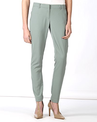 SilvianHeach Donna Pantaloni Mascalzone Chiusura Zip Casual Verde 44
