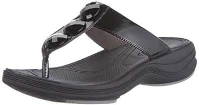 Clarks Walk Dazzle 20349879, Damen Clogs & Pantoletten, Schwarz (Black Leather), EU 36 (UK 3.5)