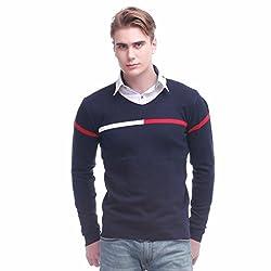Jogur Navy Blue Color Sweater For Men