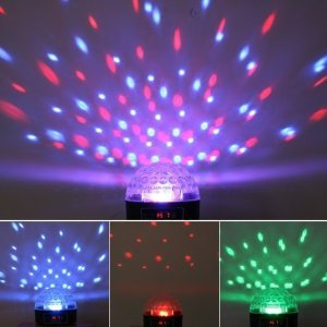 Engiveaway®Mini Dmx Disco Dj Stage Lighting Led Rgb Crystal Magic Ball Effect Light