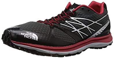 The North Face Ultra Trail Running Shoe - Mens Dark Shadow Grey/Tnf Red, 8.0