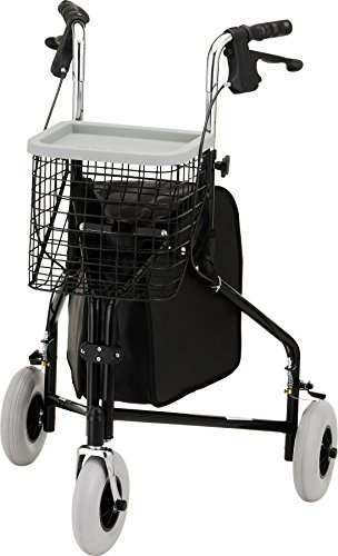 NOVA Medical Products Traveler 3-wheel walker, Black (Three Wheeled Walker compare prices)