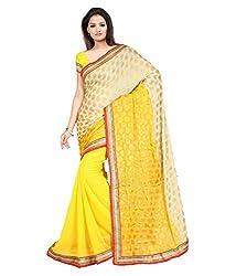 Pushkar Sarees Chiffon Saree (Pushkar Sarees_72_Yellow)