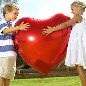 特大 ハート型風船 バルーン 75cm アルミ風船 赤5枚 ピンク5枚 計10枚セット クリスマス 結婚式 パーティー バレンタイン等に!