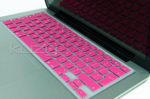 Kuzy - UK/EU Hot PINK Keyboard Silicone Cover Skin for Apple Macbook / Macbook Pro 13