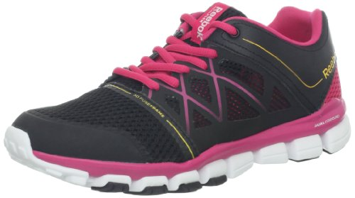 af31f1362a43 Reebok Women s Real Flex Strength TR 2 0 Cross Training Shoe Black Candy  Pink Neon Orange White 7 5 M US