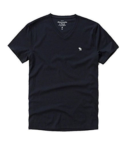 abercrombie-fitch-da-hollister-uomo-t-shirt-henley-navy-v-neck-large