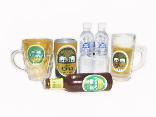 chang-beer-dollhouse-5pcs-set-3d-fridge-magnet-collectible-miniature-bottle-cups-drinking-water-can-