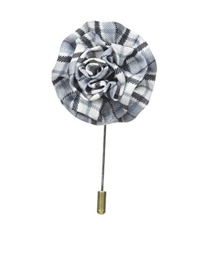 Michelson's Men's Plaid Lapel Pin, Black