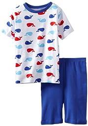 New Jammies Big Boys\' Organic Cotton Pajama Short Set, Whales, 8