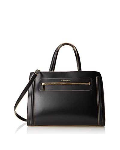 London Fog Women's Reece Satchel, Black As You See