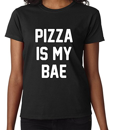 pizza-is-my-bae-funny-life-food-fashion-quote-femme-women-black-t-shirt