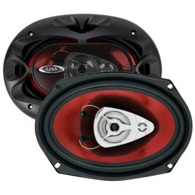 "2) New Boss Chaos Ch5730 5X7"" 600W 3-Way Car Coaxial Audio Stereo Speakers Red"