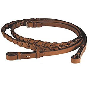 Exselle Laced Reins, 5/8 x 54-Inch/Medium, Brown