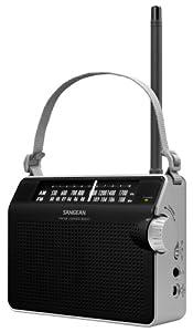 Sangean PR-D6BK AM/FM Compact Analog Portable Radio