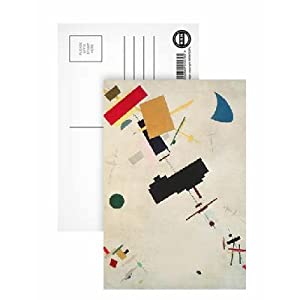 Suprematist Composition No.56, 1936 (oil on canvas) by Kazimir Severinovich Malevich - Postcard (Pack of 8) - 6x4 inch - Art247 Highest Quality - Standard Size - Pack Of 8
