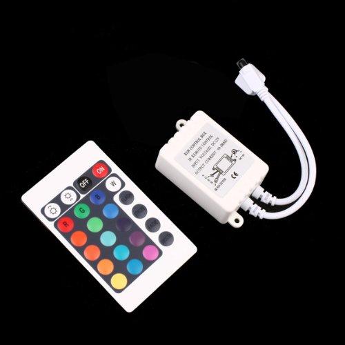 12V 24 Keys Ir Remote Controller For 3528 5050 Rgb Led Smd Strip Lights