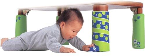 初めて!  赤ちゃんが喜ぶ良品シリーズ テーブルの脚がお相手します!  へびさんのおしゃべりテーブル脚カバー 4本セット (セーフティグッズ)
