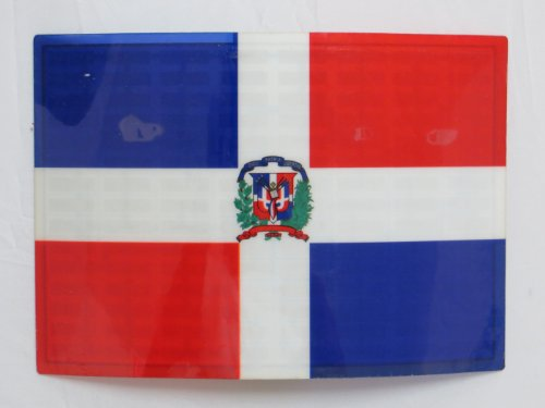 Dominican Republic Dr Flag Flashing Sound Activated Dj Light Up Led Decal Sticker Patch Panel