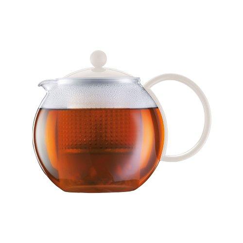 Bodum Assam Tea Press, 34-Ounce, White (Bodum Hot Water Kettle 34 Oz compare prices)