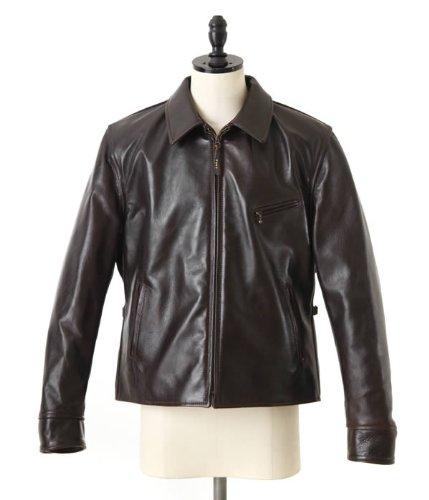 Aero Leather [エアロレザー] Halfbelt STF ハーフベルト ハーフベルテッド レザージャケット 革ジャン 40 シールブラウン