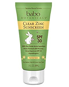 Babo Botanicals 30 SPF Clear Zinc Sunscreen, 3 Ounce
