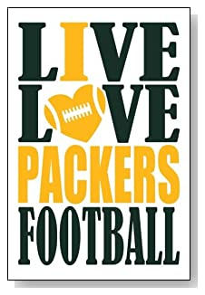 Live Love I Heart Packers Football lined journal - any occasion gift idea for Green Bay Packers fans from WriteDrawDesign.com
