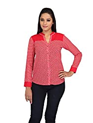lol RED Color Printed Casual Top for women