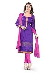 Sonal Trendz Purple Color Embroidery Semi-Stitched Suit. Festive Wear Party Wear - B016D93KL2