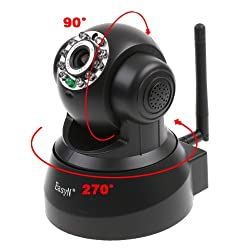 EasyN Wireless WIFI IP Camera IR LED 2-Audio Nightvision Black